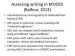 assessing writing in moocs balfour 2013
