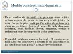 modelo constructivista humanista