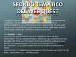 sfondo tematico del web quest