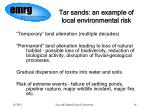 tar sands an example of local environmental risk
