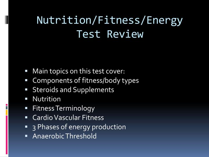 nutrition fitness energy test review n.
