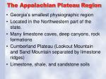 the appalachian plateau region