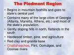 the piedmont region