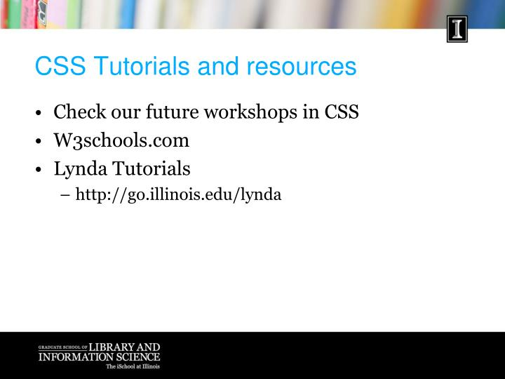 CSS Tutorials and resources