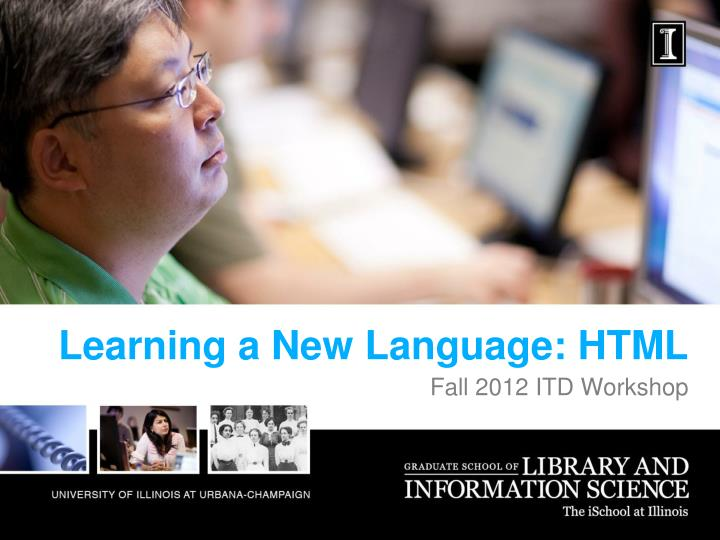 Learning a new language html