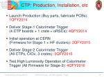 ctp production installation etc