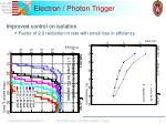 electron photon trigger