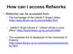 how can i access refworks