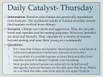 daily catalyst thursday