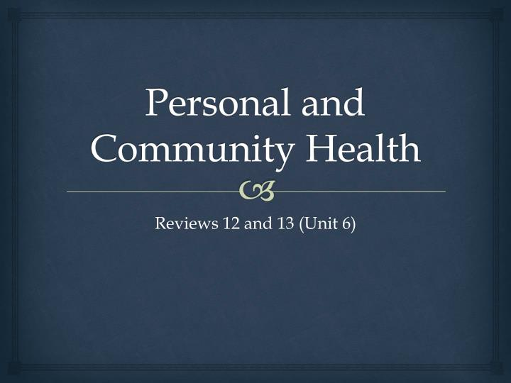 personal and community health n.