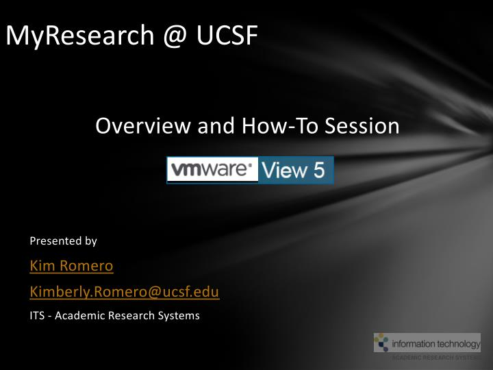myresearch @ ucsf n.