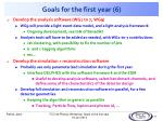 goals for the first year 6