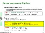 derived operators and functions