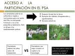 acceso a la participaci n en el psa