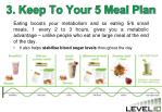 3 keep to your 5 meal plan