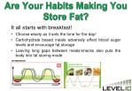 are your habits making you store fat