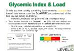 glycemic index load