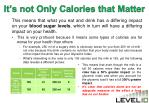 it s not only calories that matter