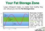 your fat storage zone