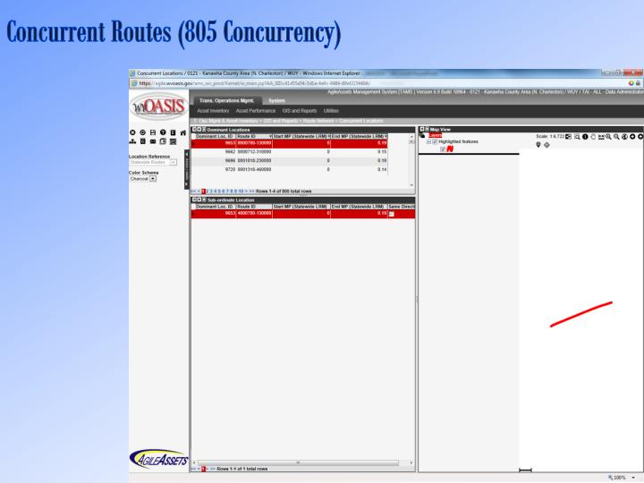 Concurrent Routes (805 Concurrency)