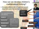 how can we develop children s mathematical thinking