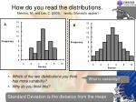 how do you read the distributions meletiou m and lee c 2003 isoda orlando to appear