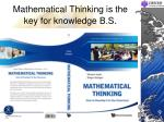 mathematical thinking is the key for knowledge b s