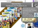 second key textbooks for problem s a