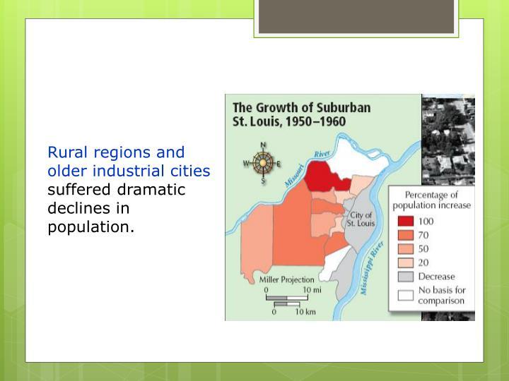 Rural regions and older industrial cities