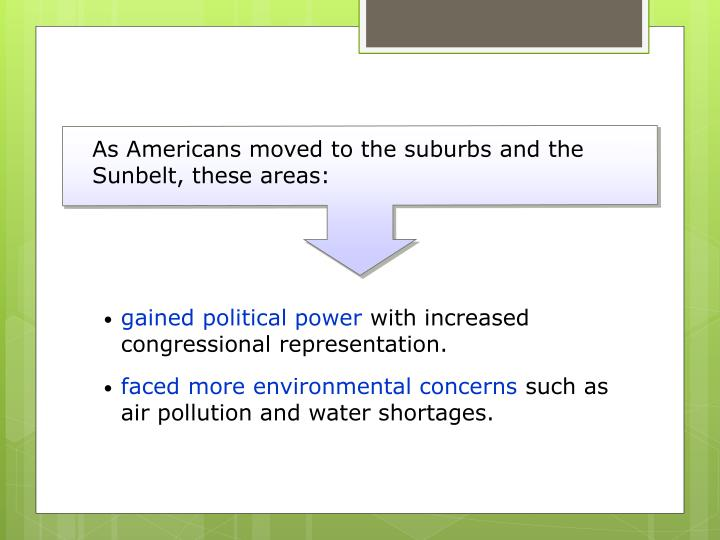 As Americans moved to the suburbs and the Sunbelt, these areas: