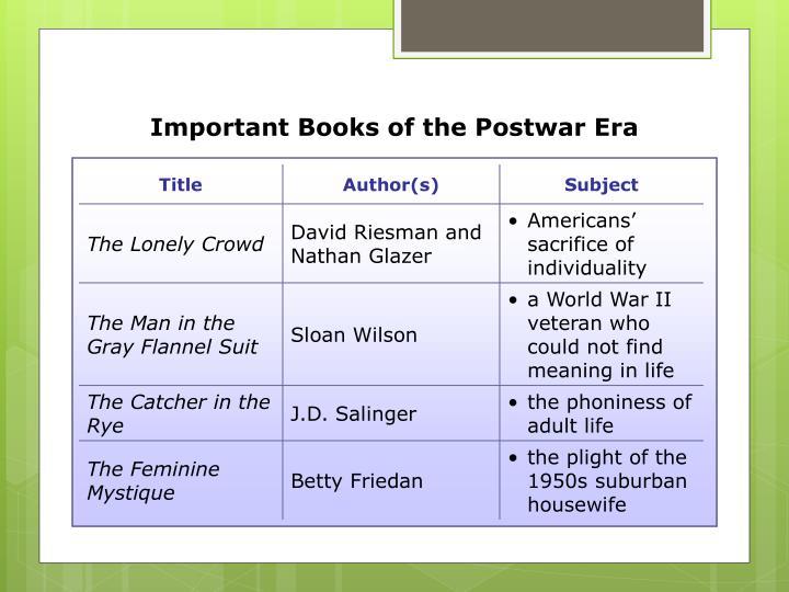 Important Books of the Postwar Era