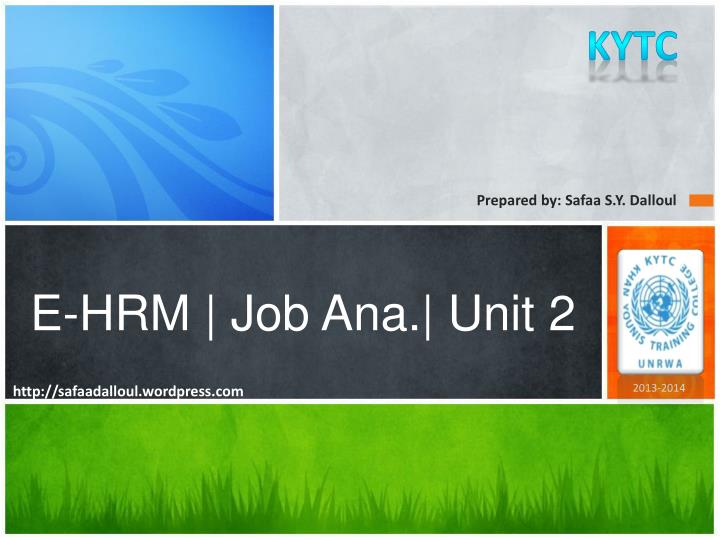 e hrm job ana unit 2 n.