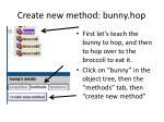 create new method bunny hop