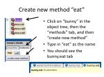 create new method eat