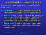 backpropagation network structure1