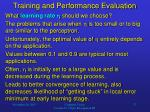 training and performance evaluation1