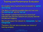 training and performance evaluation3