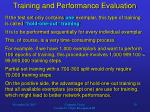 training and performance evaluation4