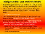 background for last of the mohicans1