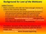 background for last of the mohicans2