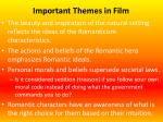 important themes in film