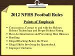 2012 nfhs football rules
