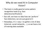 why do we need ai in computer vision