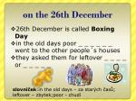 on the 26th december