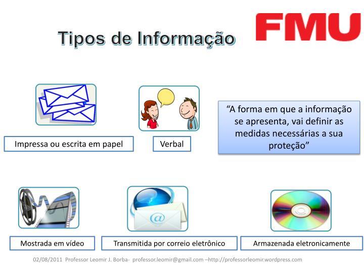 Tipos de Informação