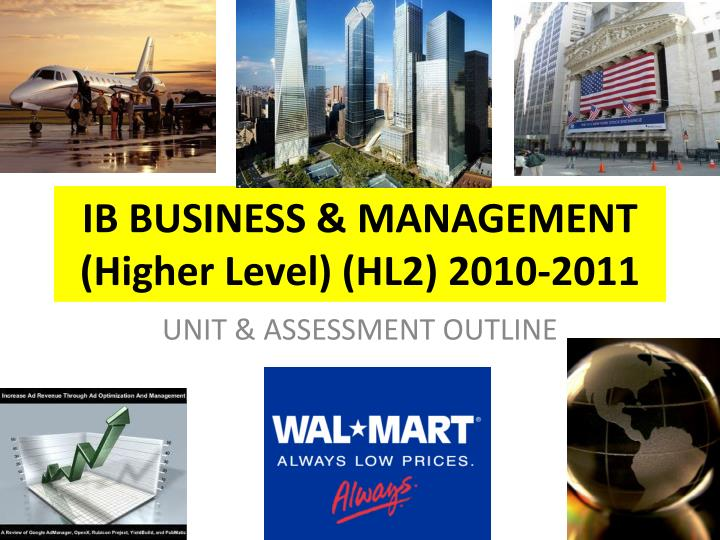 ib business management higher level hl2 2010 2011 n.