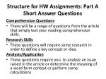 structure for hw assignments part a short answer questions