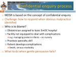 confidential enquiry process