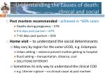 u nderstanding the causes of death clinical and social