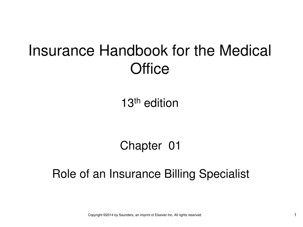 Ppt Chapter 01 Role Of An Insurance Billing Specialist Powerpoint Presentation Id 6509506